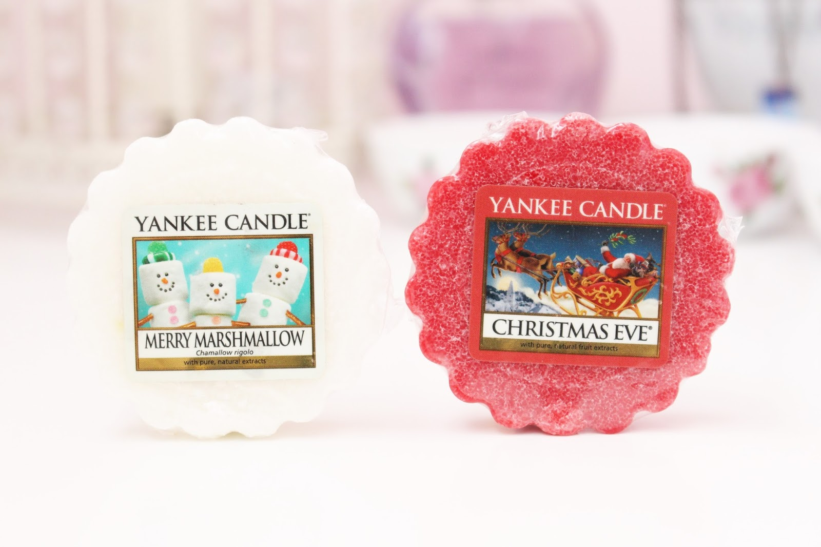 Yankee Candle Merry Marshmallow and Christmas Eve Wax Tarts