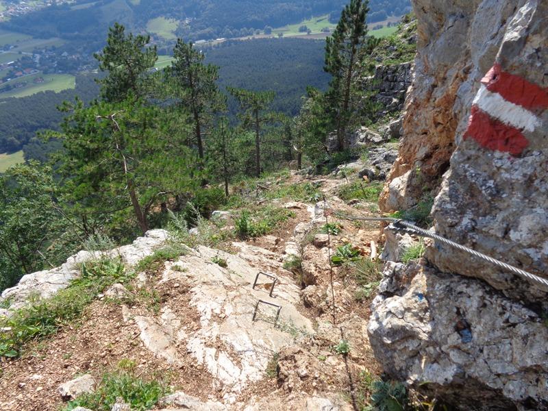 Hohe Wand Klettersteig : Klettersteig geher auf der hohen wand Österreich