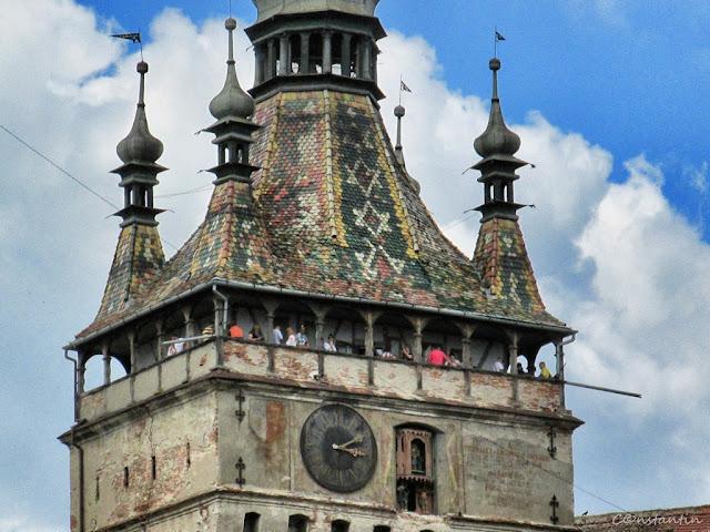 Sighişoara - Turnul cu ceas - balconul - blog FOT-IDEEA