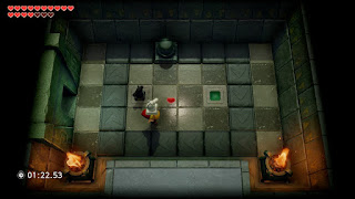 chamber dungeon room with the Beamos and two knights from the Eagle's Tower