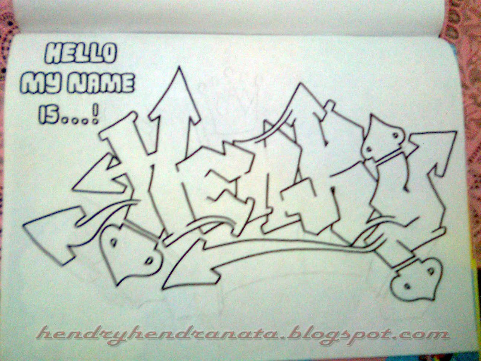 Gambar jaza naxx kajar dasar membuat graffiti 3d bagi pemula 10 di