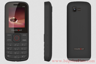 Symphony B18 Mobile Full Specification and Price In Bangladesh