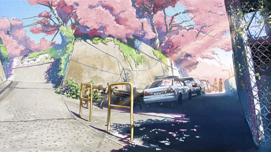 anime journeys 5 centimeters per second roadside