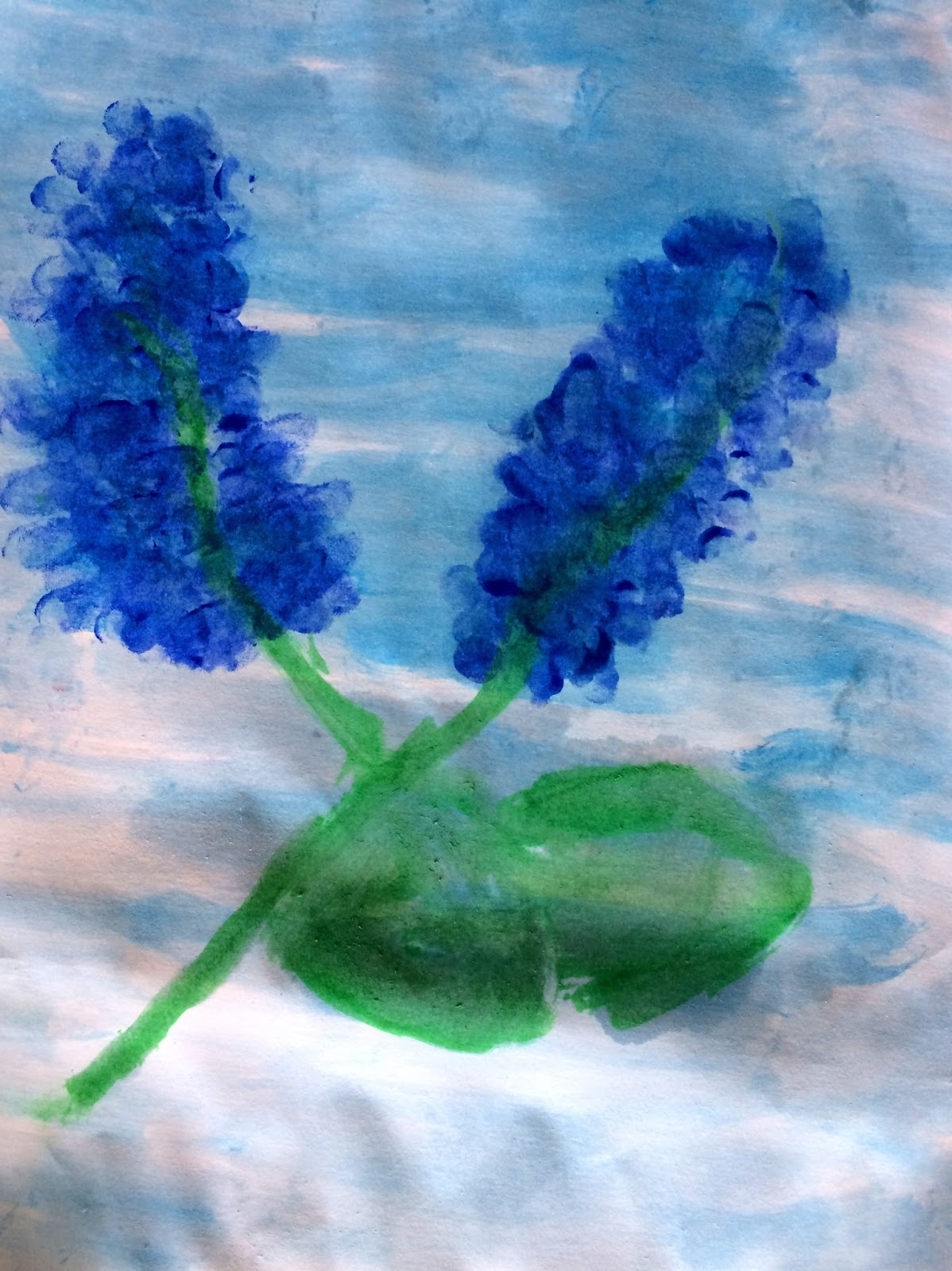 Flori de liliac-dactilopictură