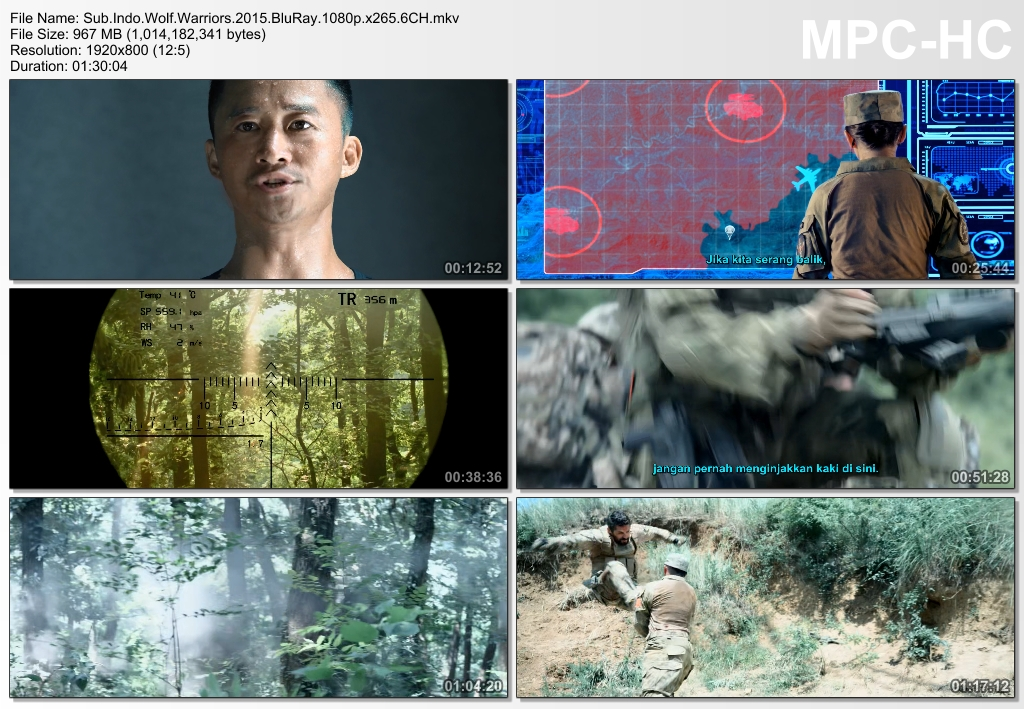 Screenshots Download Film Gratis Wolf Warrior (2015) BluRay 1080p X265 HEVC 6CH Subtitle Indonesia MKV Nonton Film Gratis Free Full Movie Streaming