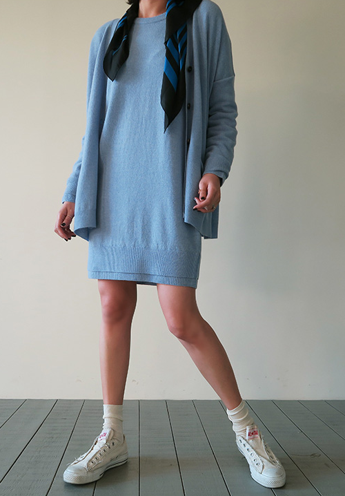 Crew Neck Shift Dress