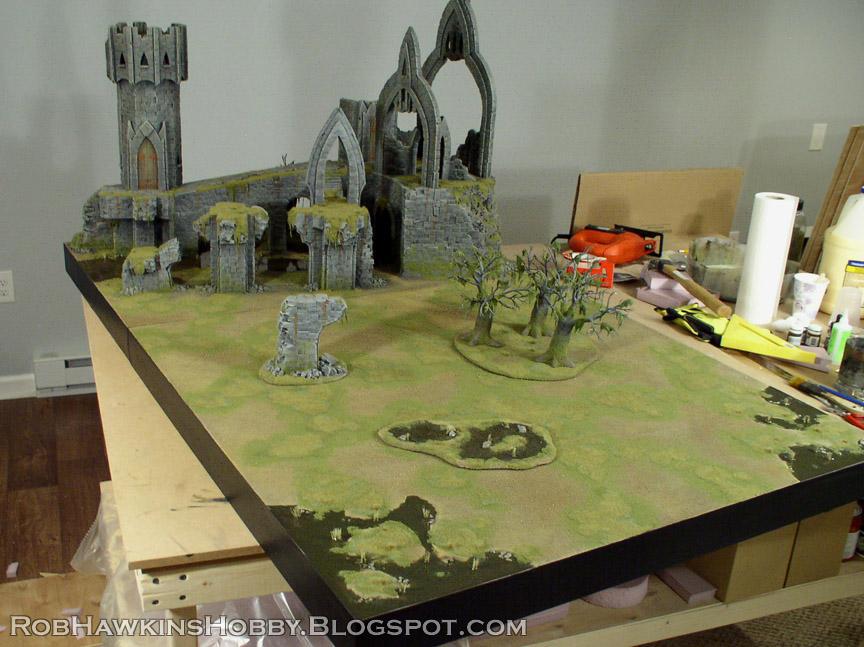 Rob Hawkins Hobby: Runewars Terrain, Part 1: Swamp Boards