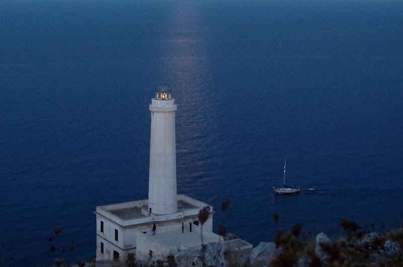 Leuchtturm von Punta Palascìa (Otranto) im Mondlicht