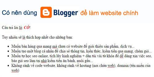 co nen dung blogspot de lam website chinh