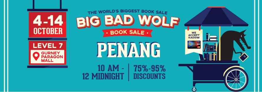 big bad wolf, pest buku besar-besaran, buku diskaun 75%, buku diskaun 95%