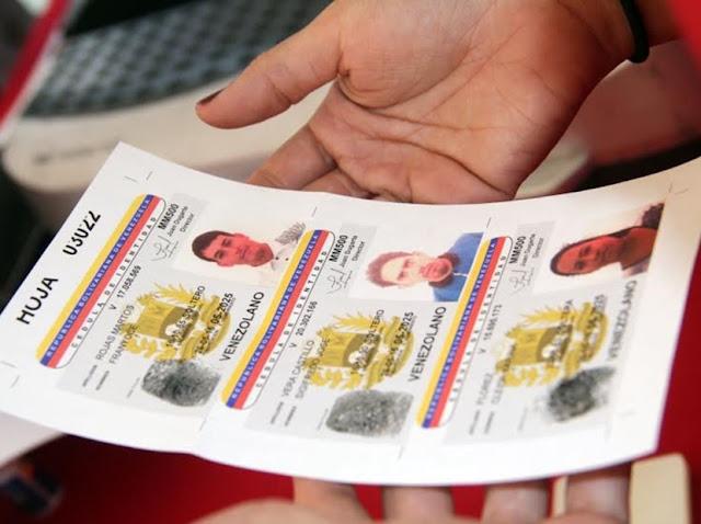 Saime sin plástico para la cédula y el carnet de la patria no falta en Venezuela