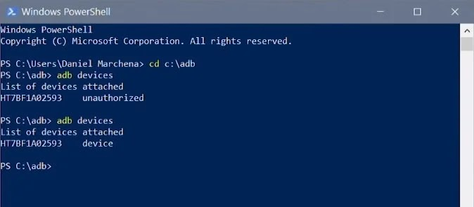 Authorized Device in PowerShell