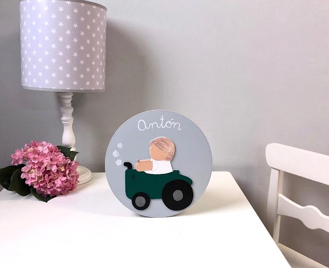placa-puerta-decoración-infantil-personalizada-tractor