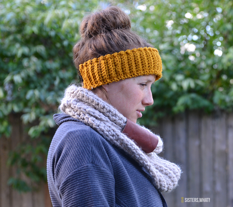 Fleece Lined Crocheted Headband Free Crochet Pattern - Sisters, What!