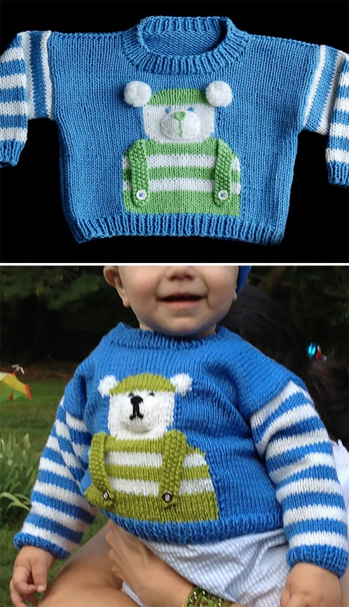 Children's Bear Sweater - Free Pattern