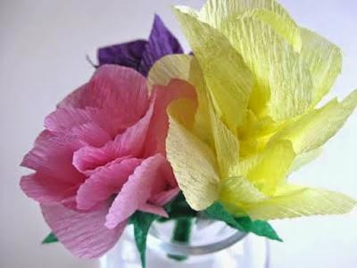 C mo hacer una flor con papel crep lodijoella - Como se hacen rosas de papel ...