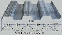 Biên dạng sàn Deck H71W910