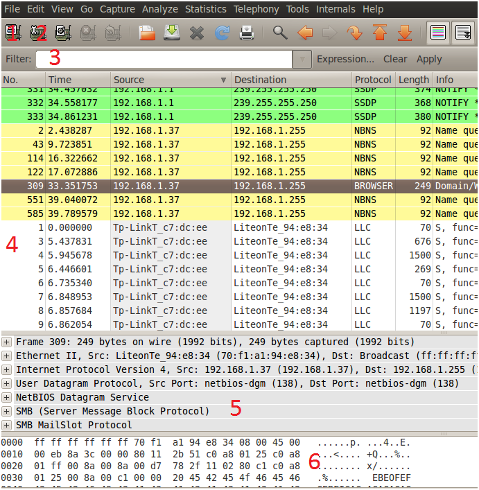 Sniffing con Wireshark 15
