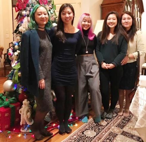 Christin Lee and her Mum and family