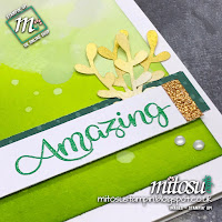 Stampin' Up! Shimmer Paint Bokeh Card Idea. Order craft supplies from Mitosu Crafts UK Online Shop
