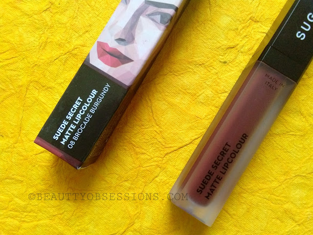 *New* Sugar Suede Secret Matte Lipcolour 'Brocade Burgundy' - Review and swatches