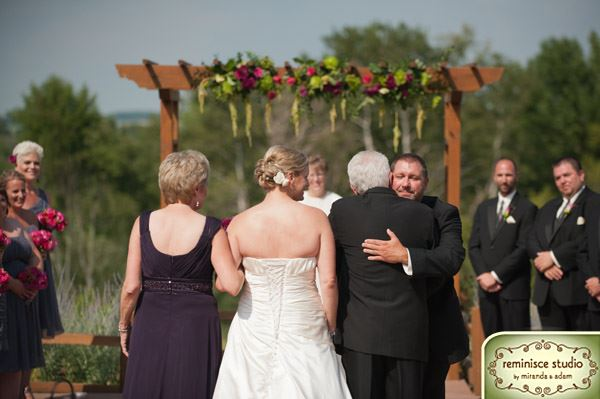 An Outdoor Wedding Ceremony At London S Hunt Club: Bank Of Flowers: Milford Hills Hunt Club Wedding