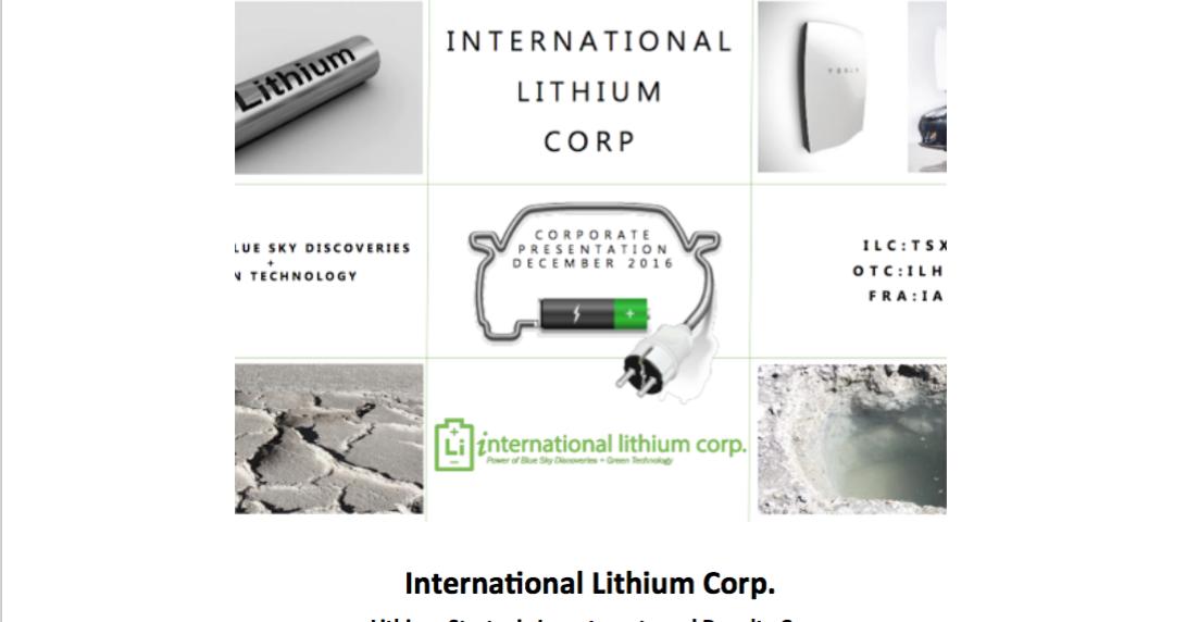 Kirill Klip International Lithium Announces Private