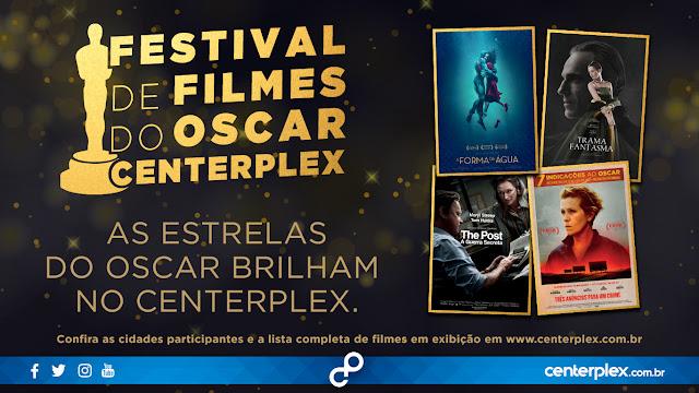 Filmes do Oscar em cartaz no Centerplex North Shopping Barretos