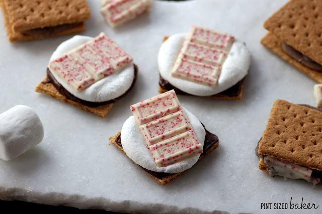 You definitely need to try these s'mores with a holiday twist! Hershey's Candy Cane S'mores are extra special for your winter treat!