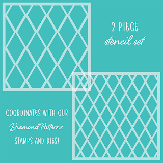 DIAMOND PATTERNS | Set of 2 Stencils