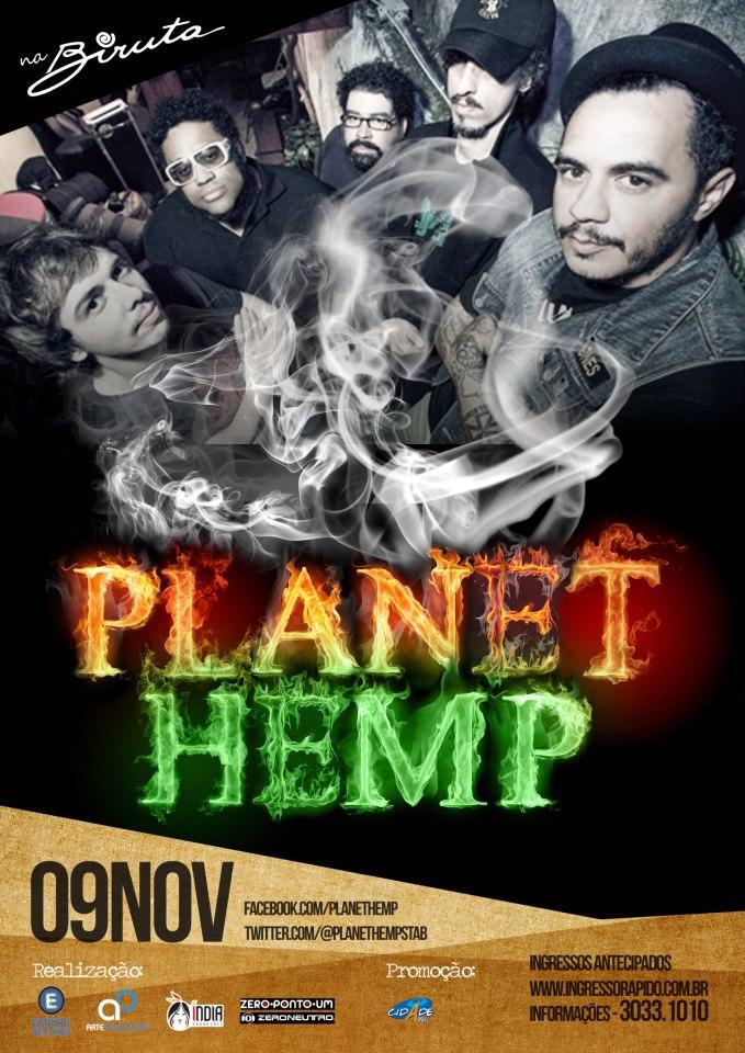 Planet Hemp em Fortaleza na Biruta dia 26 de janeiro de 2013 e61c917025