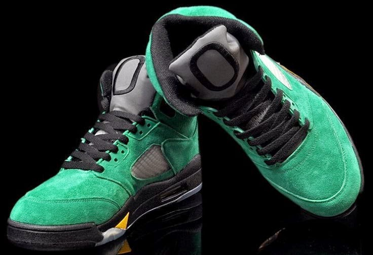 0e01ec6bb6f Air Jordan 5 Oregon Ducks Black Apple Green-Yellow Strike 454803-535