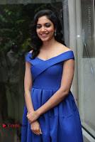 Actress Ritu Varma Pos in Blue Short Dress at Keshava Telugu Movie Audio Launch .COM 0063.jpg