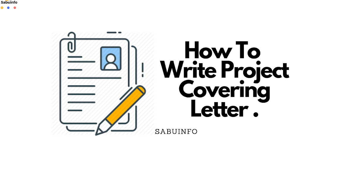 How to write a project covering letter for financial support