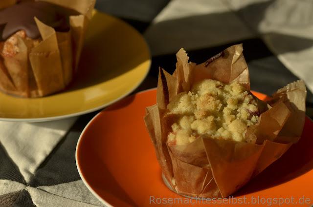 Muffins backen Beeren Streußel