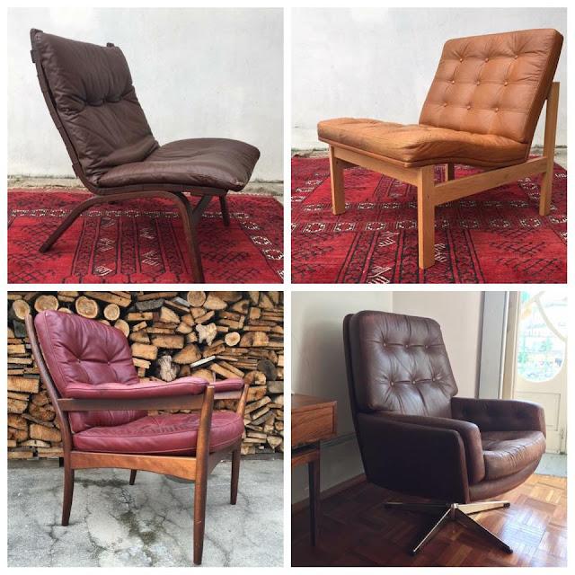 cadeirões, vintage, nórdicos, móveis vintage, design nórdico