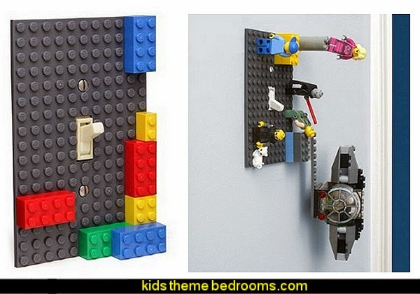 Lego compatible light switch covers Lego wallpaper  Lego bedroom decor  Lego bedding