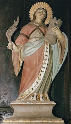 Santa Bárbara de la capilla de Merou, Boal