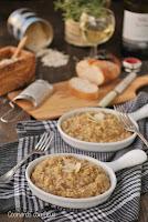 Risotto con funghi porcini con sabor italiano