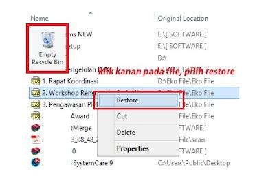 Menemukan File atau Folder Data yang Tiba-tiba Hilang