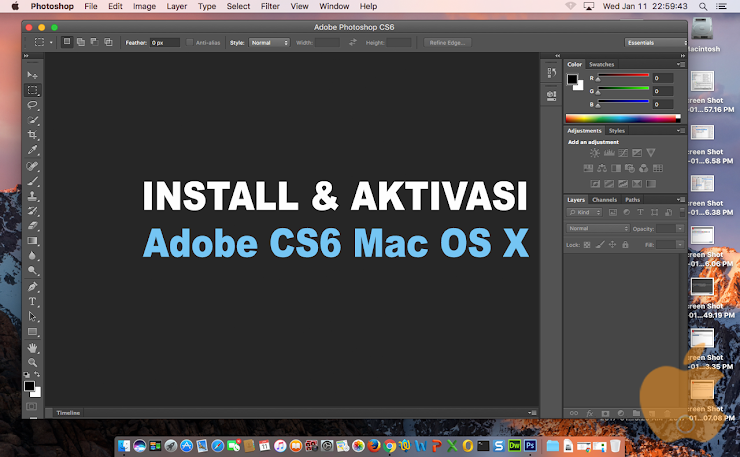 Cara Install dan Aktivasi Adobe CS6 Master Collection di Mac OS X