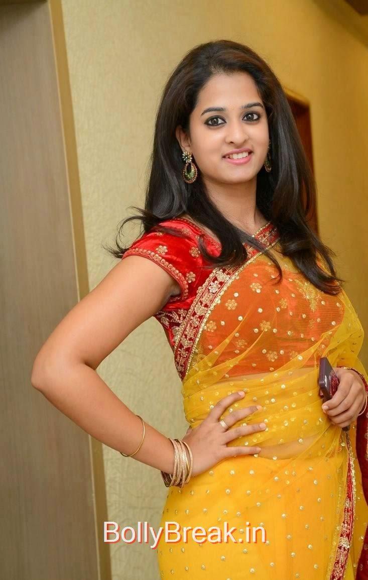 Actress Nanditha Stills At Ram Leela Movie Audio Launch, Actress Nanditha Yellow Saree Navel pics in HD from Ram Leela Movie
