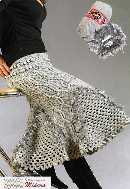 """Patron Crochet Falda """"Lanas"""""""