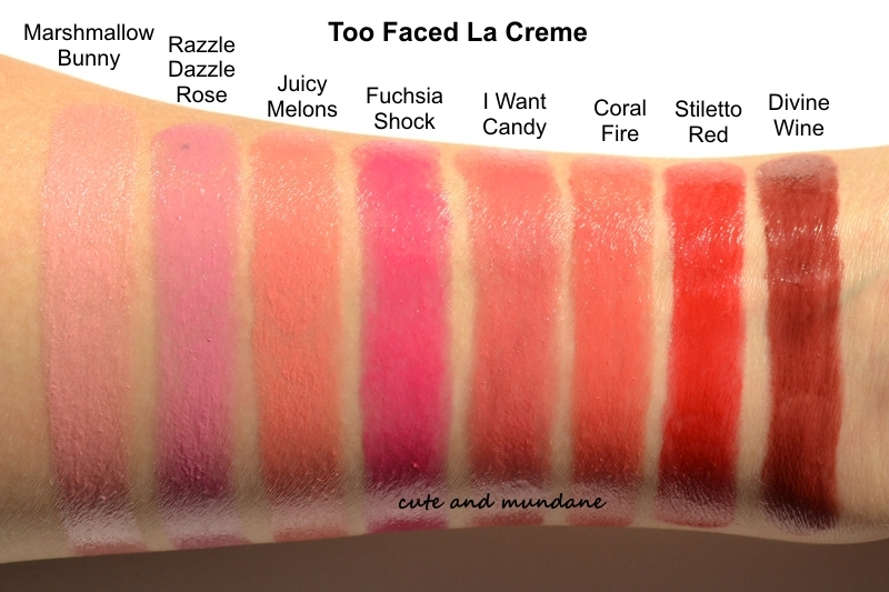 Cute And Mundane Too Faced La Cr 232 Me Color Drenched Lip