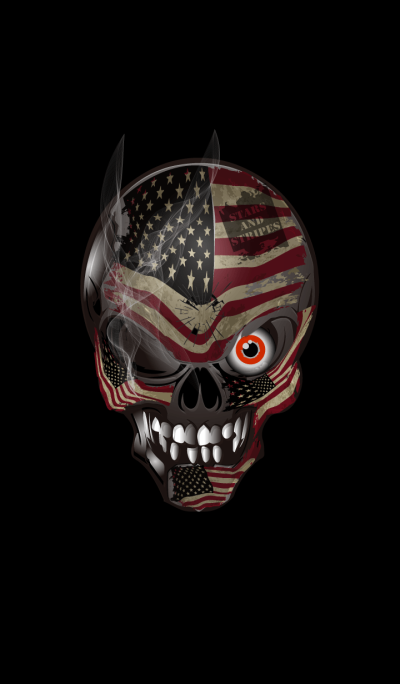 Skull of the Stars and Stripes