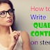 How to write  Quality Content on the web (Steemit)
