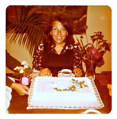 1970's baby shower cake