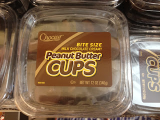 Overhead view of a package of Choceur Peanut Butter Cups, the best such things on the planet