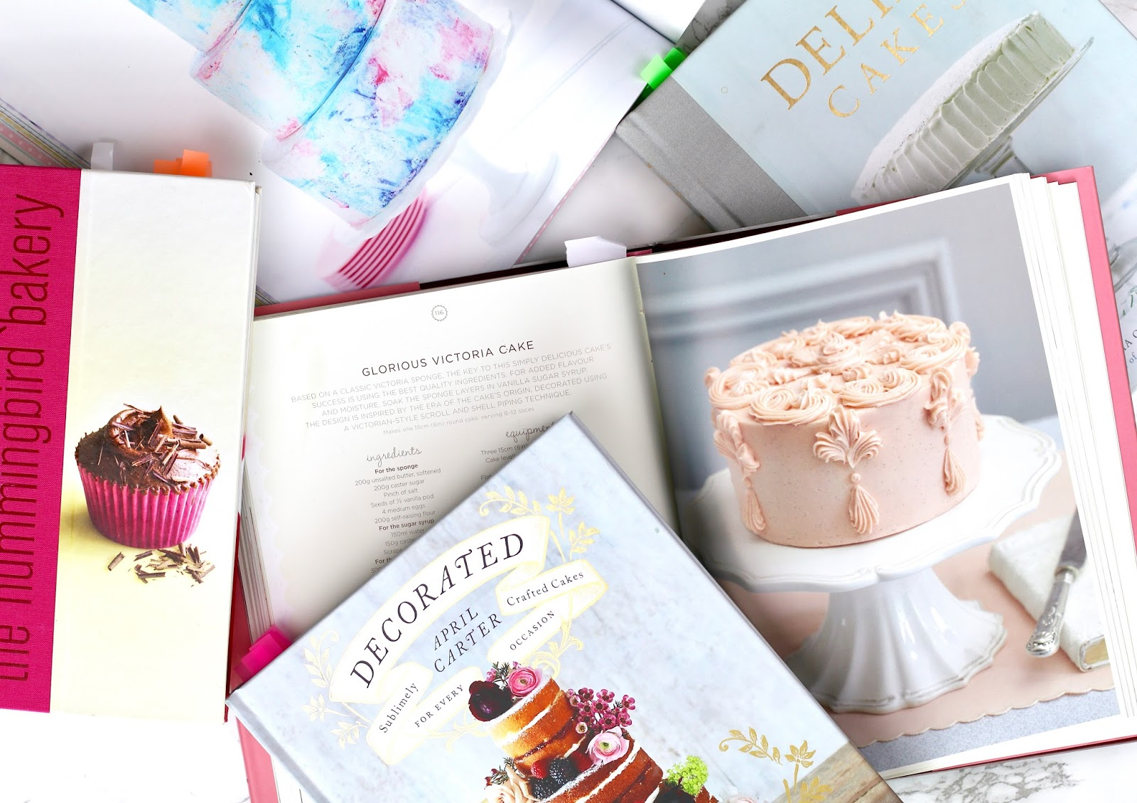 Favourite-baking-books-hummingbird-bakery-april-carter-decorated-delia-smith-peggy-porschen-sweetpolita