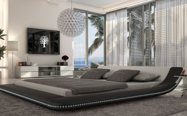 Futuristic King Size Bed for Home Look Modern